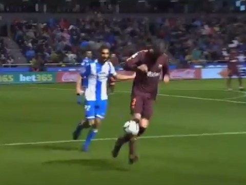 Gerard Pique showboats with kick-ups as Barcelona secure La Liga title with victory over Deportivo