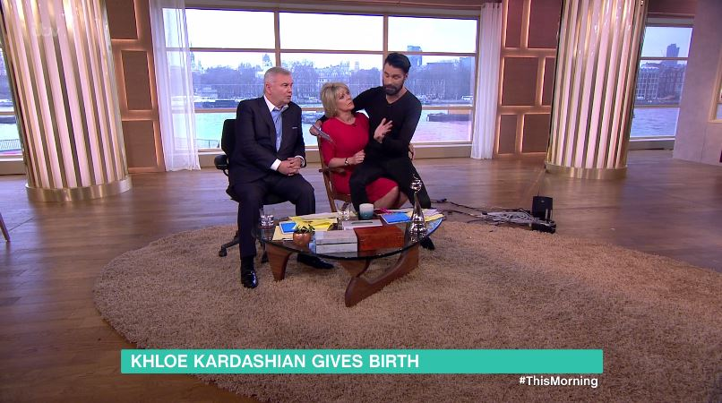 Rylan Clark-Neal forced to sit on Ruth Langsford's lap as This Morning crew move sofas to new studio
