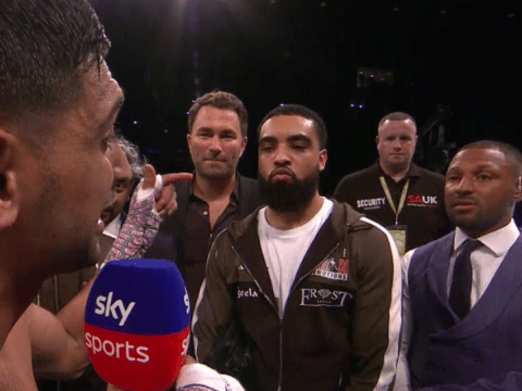 I'm the one chasing Kell: Amir Khan confronts Kell Brook in the ring
