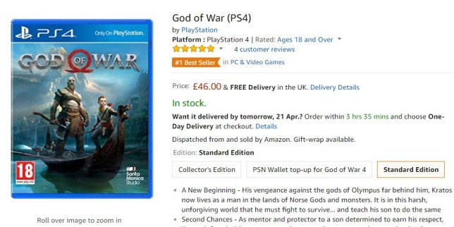 God Of War is now in stock at Amazon but secret Sony spat is not