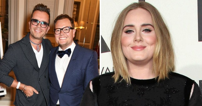 542f38f55b6 Adele was ordained to marry Alan Carr and Paul Drayton