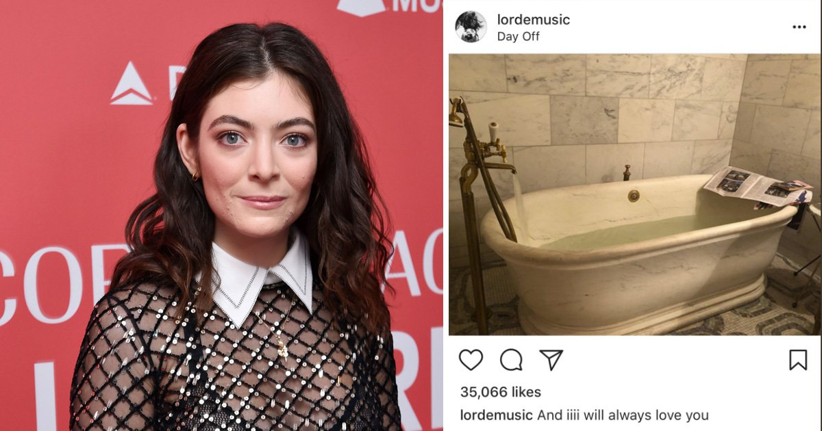 Lorde apologises for sharing Whitney Houston lyrics alongside morbid bathtub picture