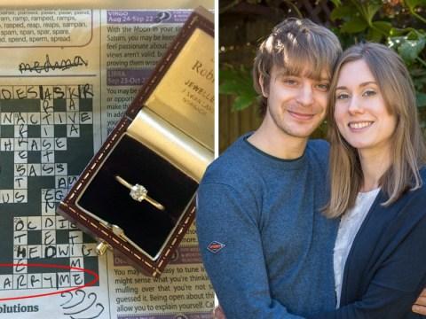 Man's proposal using crossword clues is super cute
