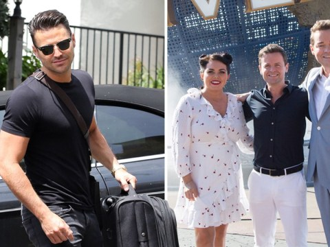 Mark Wright pictured arriving in Orlando ahead of Saturday Night Takeaway finale