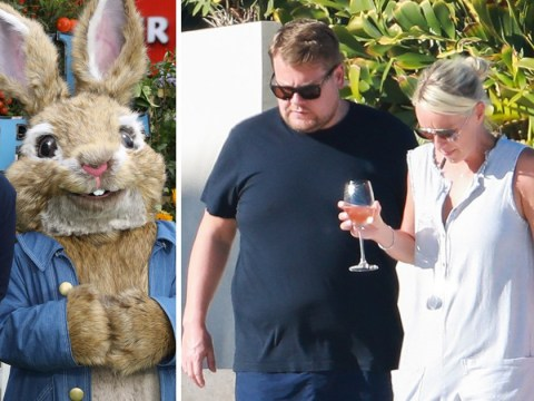 James Corden forgets those atrocious Peter Rabbit reviews as he relaxes in Mexico