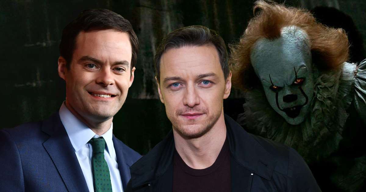 James McAvoy and Bill Hader being lined up for It: Chapter 2