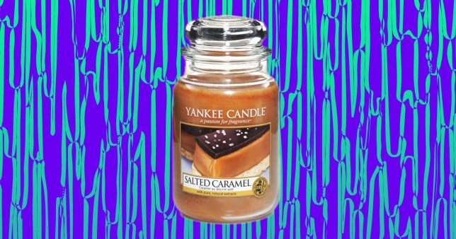 Yankee Candle is selling a salted caramel scented candle and