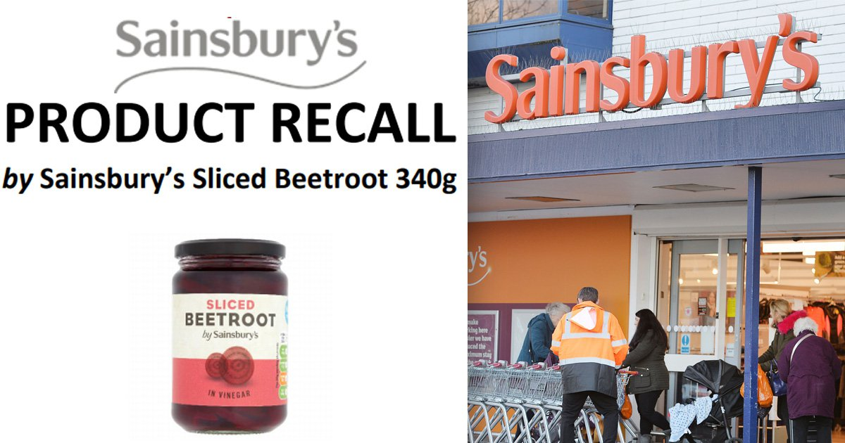 Sainsbury's recalls jars of beetroot after discovering pieces of glass