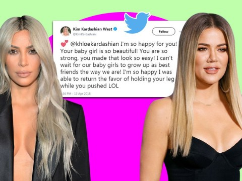 Kim Kardashian reveals she held up Khloe's leg while she pushed in delivery room