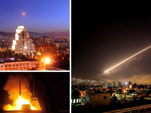 US, UK and France launch airstrikes on Syria in response to 'evil' chemical weapons attack