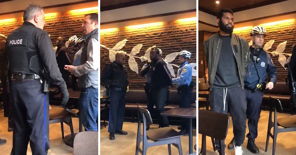 Starbucks call police who arrest two black men because 'they didn't order anything'