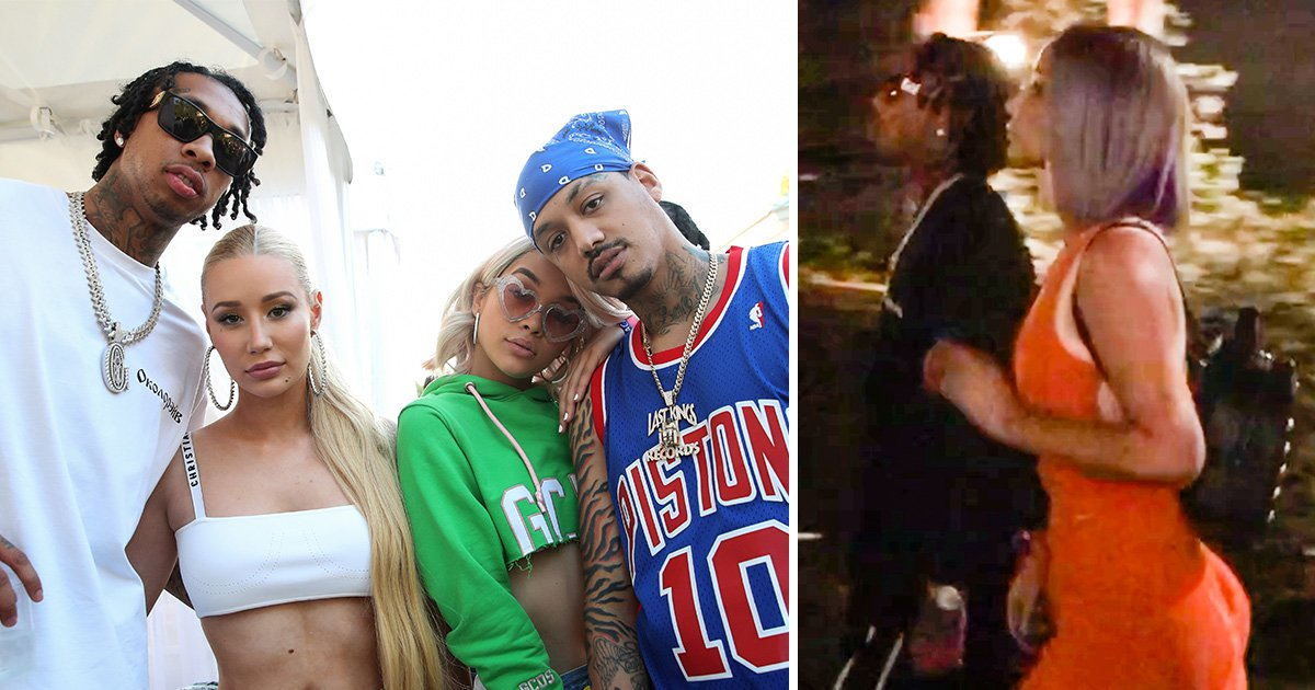 Are Iggy Azalea and Tyga dating? Rappers ignite rumours as they're pictured slinking around Coachella