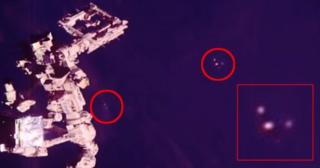 UFO fans spot 900-foot spaceship the size of The Shard next to Space Station