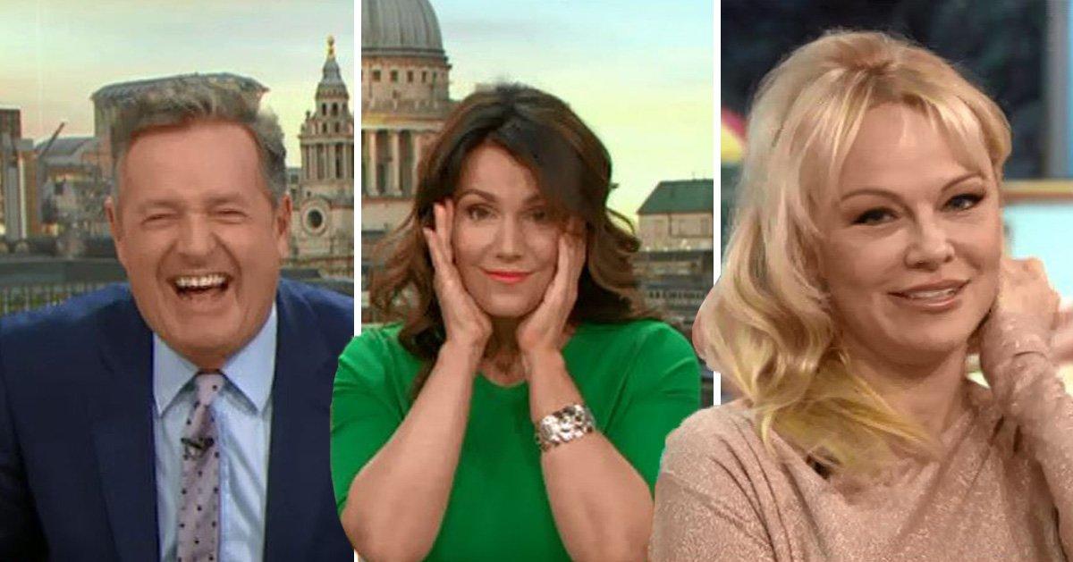 Piers Morgan tells Pamela Anderson he's 'never had bad sex' and Susanna Reid is left speechless