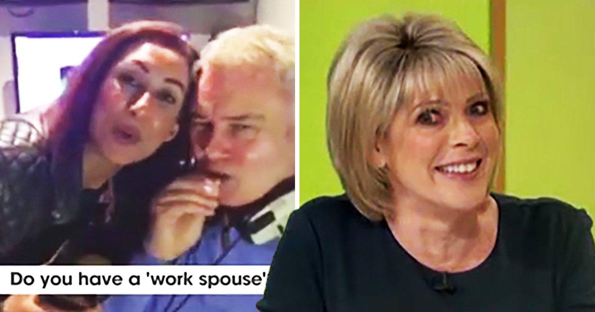 Eamonn Holmes trolls Ruth Langsford as he fawns over 'work wife' Saira Khan