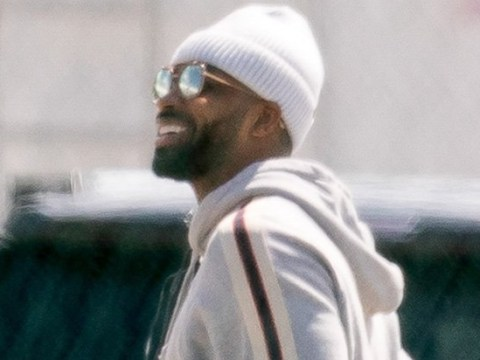 Tristan Thompson looks happy with himself as he jets out of Cleveland with not a woman in sight
