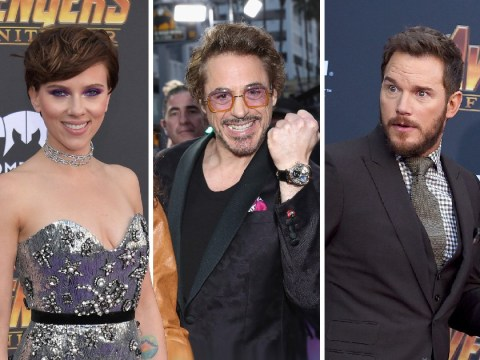The Marvel Universe hits the purple carpet for Avengers: Infinity War premiere