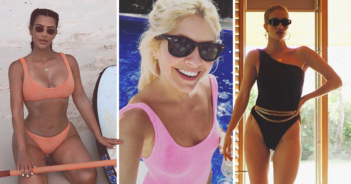 Kim K, Holly Willoughby, Alexa, and more are loving this swimsuit brand for the summer
