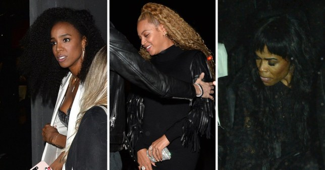 Beyonce, Michelle Williams and Kelly Rowland Leave a Store Opening Party at DundasWorld