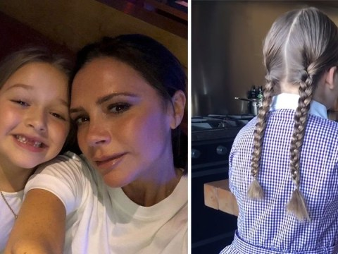 Harper Beckham shows off posh accent in cute video of her reading to her mum