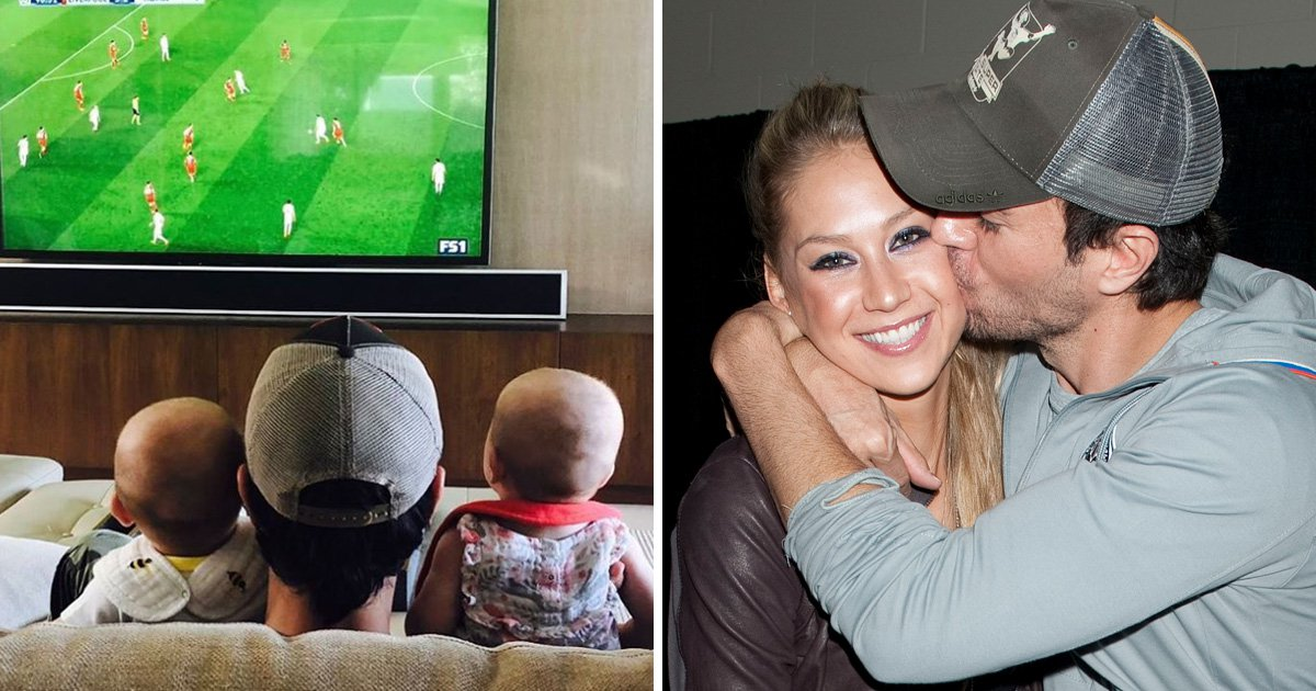 Enrique Iglesias shares super sweet glimpse of baby twins as they enjoy the football with their dad