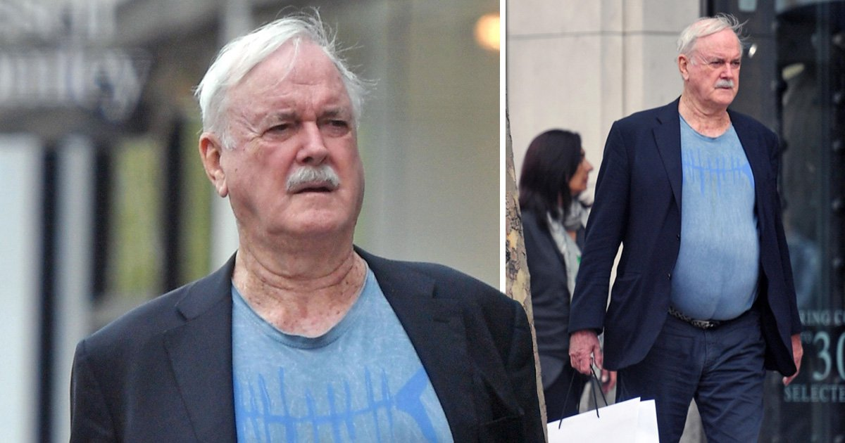 Comedy legend John Cleese spotted on low-key shopping spree around London