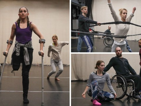 New style of contemporary dance welcomes dancers using wheelchairs and crutches