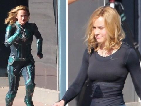 Brie Larson films Captain Marvel action scenes as Carol Danvers makes MCU debut in Avengers: Infinity War
