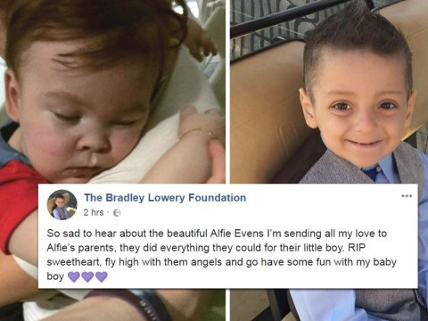 Bradley Lowery's mum says Alfie Evans will be 'playing in heaven' with her son