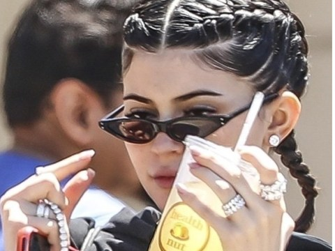 Kylie Jenner flaunts massive diamond ring after splashing out on boyfriend's theme park birthday