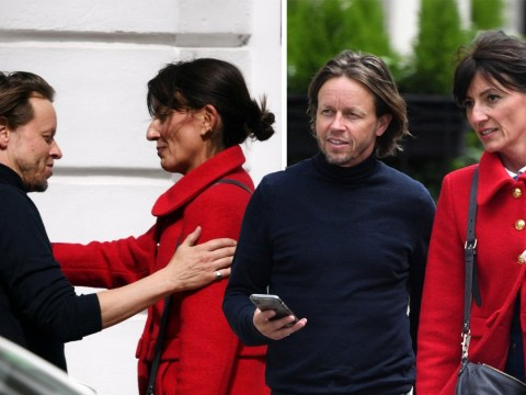 Davina McCall puts divorce to back of her mind as she enjoys lunch with male friend