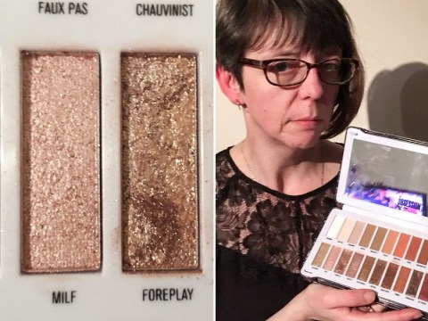 Mum outraged by over-sexualised names given to colours in eyeshadow palette