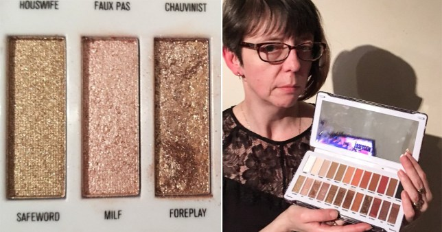 Mum outraged by over-sexualised colour names in eyeshadow
