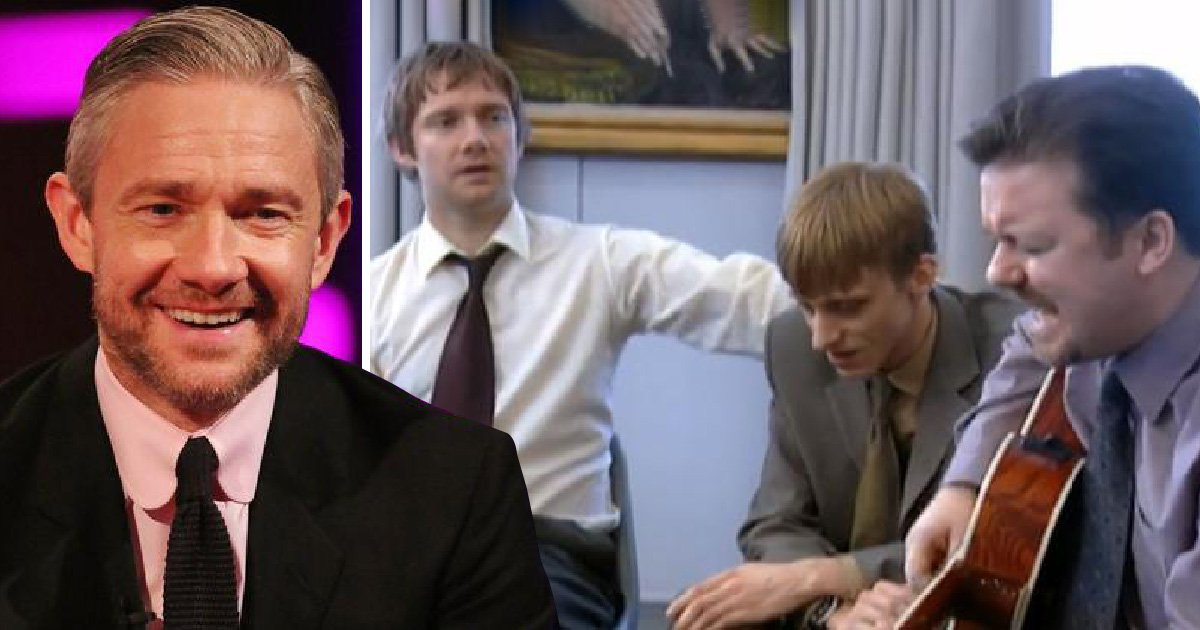 Ricky Gervais would make it his mission to make everyone laugh on The Office set, claims Martin Freeman