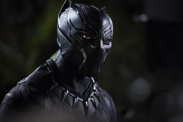 """No Merchandising. Editorial Use Only. No Book Cover Usage Mandatory Credit: Photo by Marvel/Disney/Kobal/REX/Shutterstock (9360960s) Chadwick Boseman """"Black Panther"""" Film - 2018"""