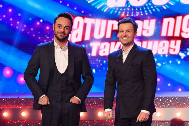 Editorial Use Only. No merchandising Mandatory Credit: Photo by ITV/REX/Shutterstock (9454096aw) Anthony McPartlin and Declan Donnelly 'Ant & Dec's Saturday Night Takeaway' TV Show, Series 15, Episode 3, London, UK - 10 Mar 2018
