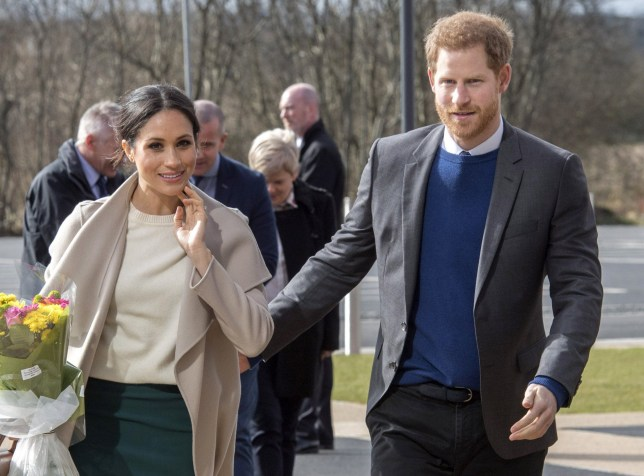 LISBURN, NORTHERN IRELAND - MARCH 23: Prince Harry and Meghan Markle visit the Eikon Centre and attend an event to mark the second year of the youth-led peace-building initiative 'Amazing the Space' on March 23, 2018 in Lisburn, Nothern Ireland. (Photo by Arthur Edwards - WPA Pool/Getty Images)
