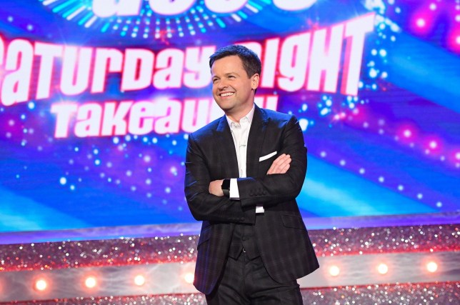 Editorial Use Only. No merchandising Mandatory Credit: Photo by Kieron McCarron/REX/Shutterstock (9485884d) Declan Donnelly Ant & Dec's Saturday Night Takeaway' TV Show, Series 15, Episode 6, London, UK - 31 Mar 2018