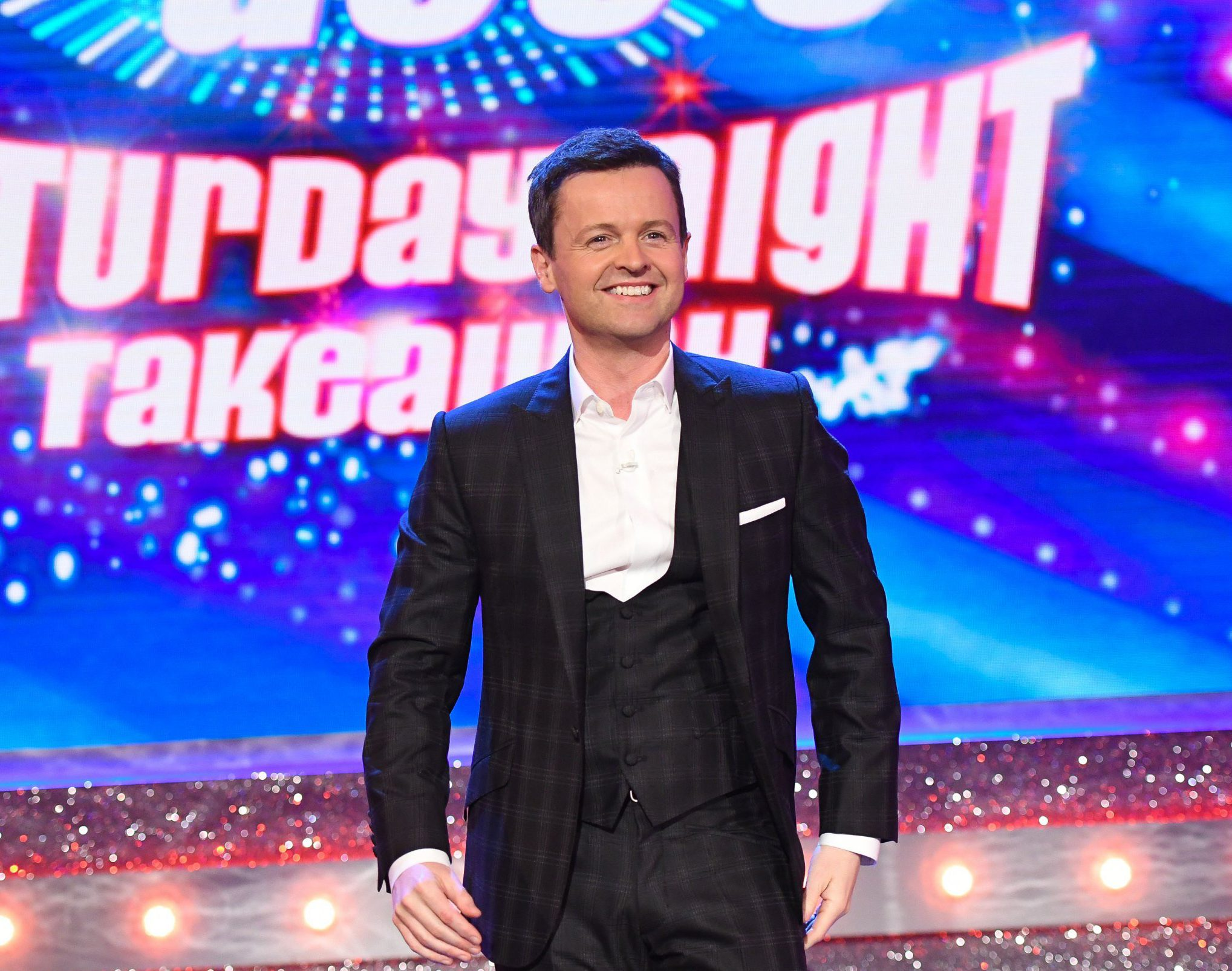 Editorial Use Only. No merchandising Mandatory Credit: Photo by Kieron McCarron/REX/Shutterstock (9485884e) Declan Donnelly Ant & Dec's Saturday Night Takeaway' TV Show, Series 15, Episode 6, London, UK - 31 Mar 2018