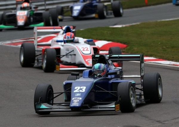 Mandatory Credit: Photo by REX/Shutterstock (9488666b) OULTON PARK CIRCUIT, UNITED KINGDOM - MARCH 31: Billy Monger (GBR) Carlin BRDC British F3 during the Oulton Park at Oulton Park Circuit on March 31, 2018 in Oulton Park Circuit, United Kingdom. 2018 Oulton Park