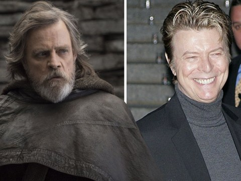 Mark Hamill reveals he found a David Bowie review inside a Dewback's head while filming Star Wars