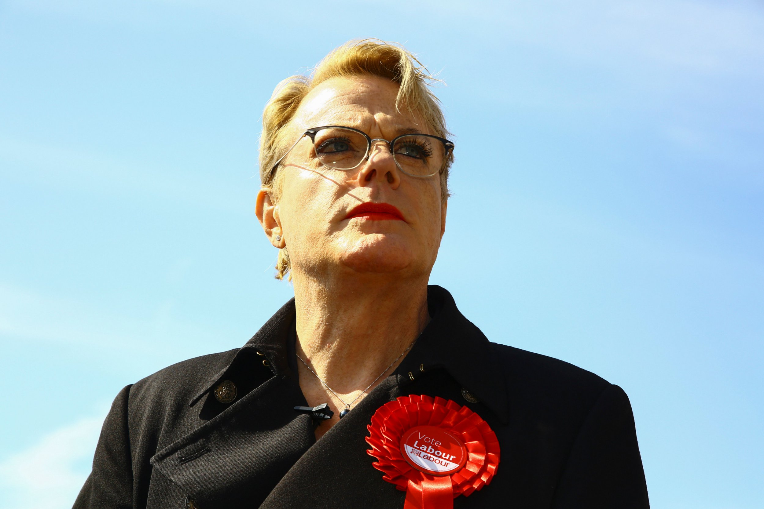 British actor and comedian Eddie Izzard poses for a photograph as he attends a Labour general election campaign event in Cardiff on May 10, 2017. Britain will vote in a general election on June 8. / AFP PHOTO / Geoff CADDICK (Photo credit should read GEOFF CADDICK/AFP/Getty Images)