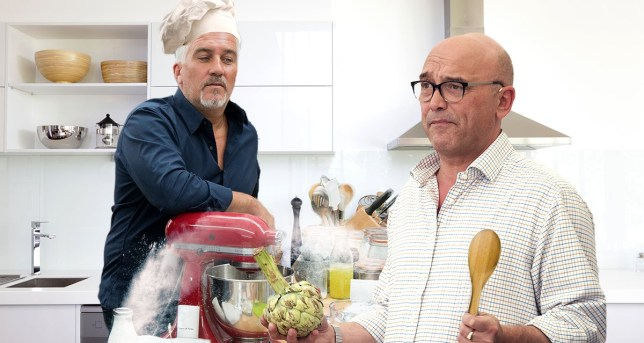 Picture: Getty, Rex There's Masterchef V GBBO beef! Greg Wallace thinks the baking show is easier to judge