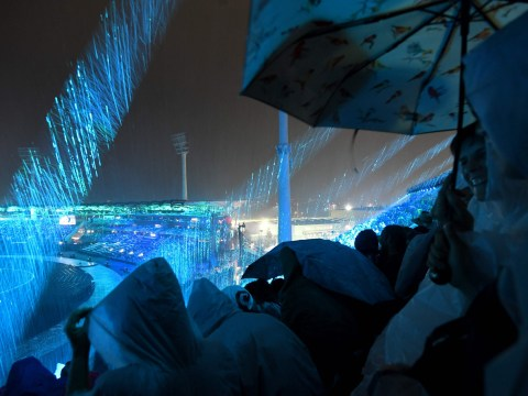 BBC commentator fears for equipment as downpour hits Commonwealth Games opening ceremony
