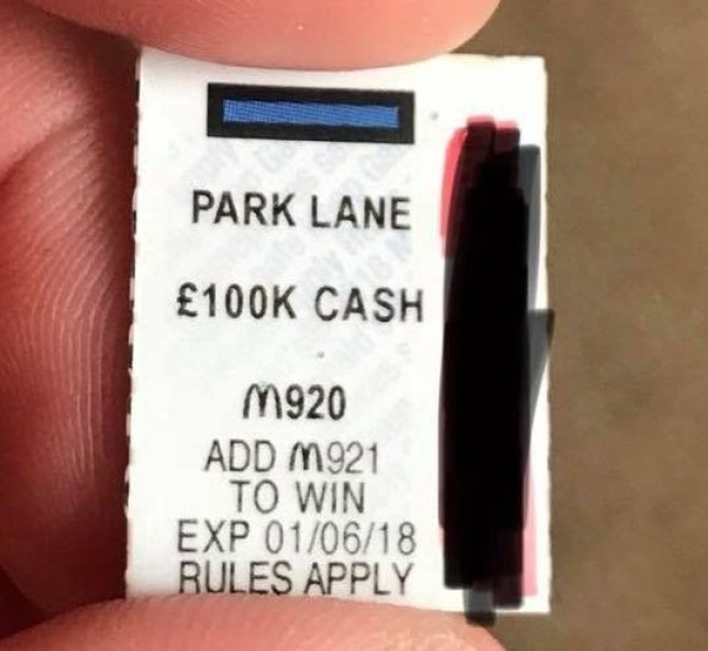 Man offering £50,000 McDonald's Monopoly win for matching