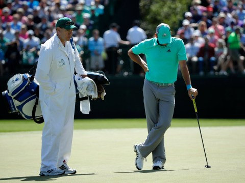 Defending Masters champion Sergio Garcia hits FIVE balls in the water at Augusta during nightmare hole