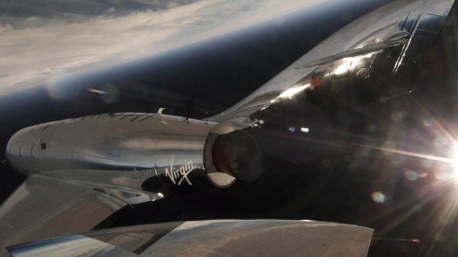 Undated handout photo issued by Virgin Galactic of SpaceShipTwo VSS Unity completing her first supersonic, rocket-powered flight. PRESS ASSOCIATION Photo. Issue date: Friday April 6, 2018. See PA story US Virgin. Photo credit should read: Virgin Galactic/PA Wire NOTE TO EDITORS: This handout photo may only be used in for editorial reporting purposes for the contemporaneous illustration of events, things or the people in the image or facts mentioned in the caption. Reuse of the picture may require further permission from the copyright holder.