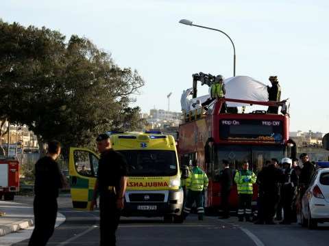 Three British holidaymakers injured after double-decker tour bus crashes in Malta