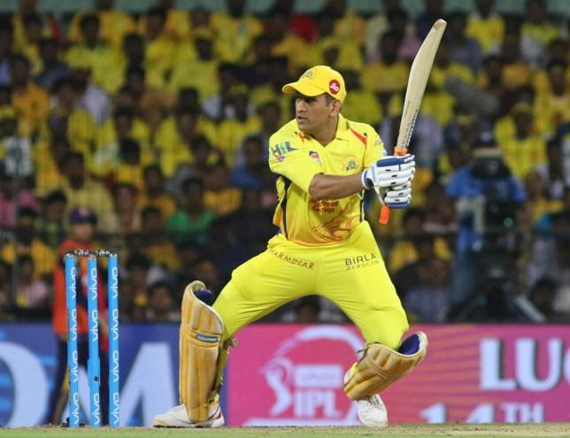 Mahendra Singh Dhoni of Chennai Super Kings bats during VIVO IPL cricket T20 match against Kolkata Knight Riders in Chennai, India, Tuesday, April 10, 2018. (AP Photo/Parthi Bhan)