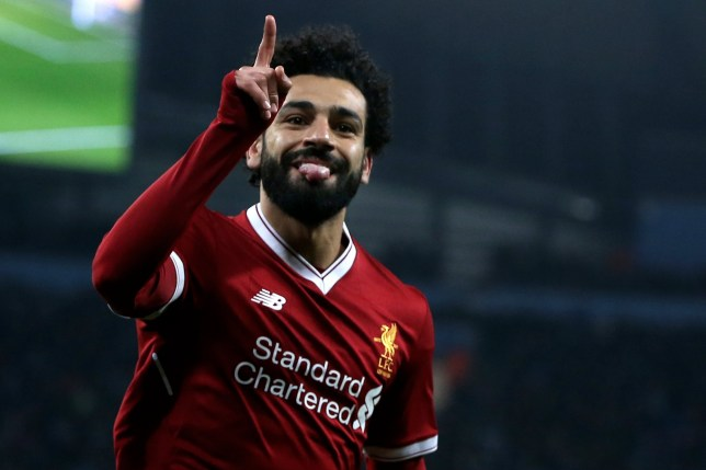 fa6ec51d23e epa06660220 Liverpool's Mohamed Salah celebrates after scoring the 1-1  equalizer during the UEFA Champions